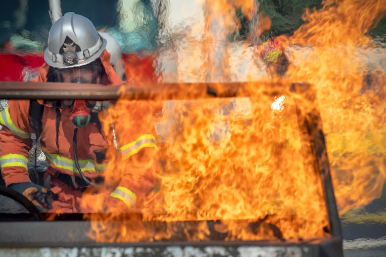 Yokota Firefighters participate in bilateral fire training exercise