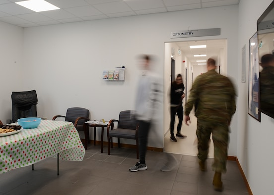 An open house is held at the new Optometry location on Area F, Aviano Air Base, Italy, Oct. 30, 2019. Optometry was located on Area 1 for over five years. (U.S. Air Force photo by Airman Thomas S. Keisler IV)