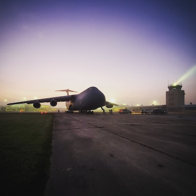 Westover C-5 delivers Emergency Equipment to Guatemala