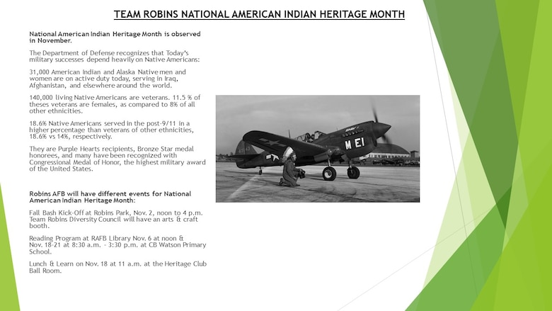 Celebrating a culture: Robins to celebrate American Indian Heritage Month