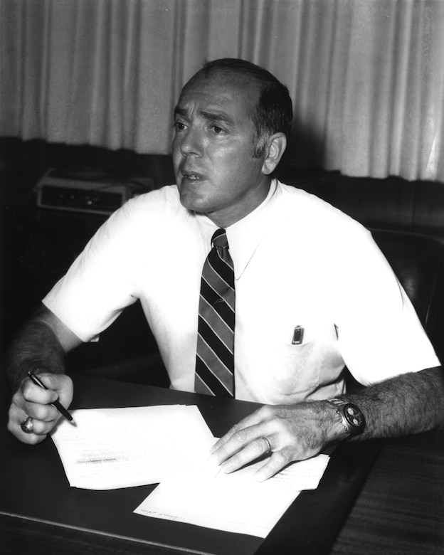 George P. Peterson served as Director of the Air Force Research Laboratory's Materials and Manufacturing Directorate from 1974-1977 and then again from 1980-1985 and was instrumental in the development of advanced composite materials used across the world today. (U.S. Air Force Photo)