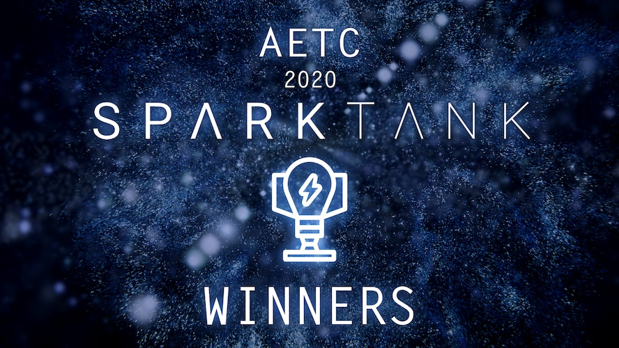 AETC 2020 Spark Tank Challenge Winners.Since its inception in September 2017, the Spark Tank competition has been a high-profile, public forum that celebrates the innovations of Airmen while identifying avenues to increase lethality and cost-effective modernization, pushing boundaries to pursue future technologies and recognizing problems and creative solutions.
