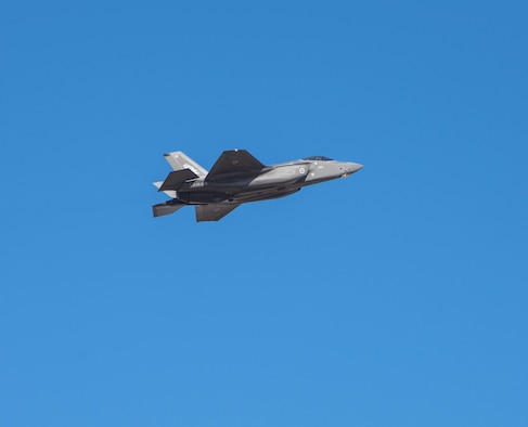 An F-35A Lightning II, assigned to the 61st Fighter Squadron, flies during a sortie Oct. 28, 2019, at Luke Air Force Base, Ariz.