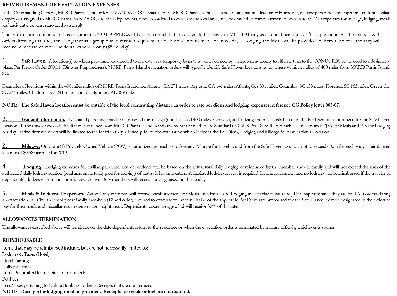 Hurricane_Financial Information