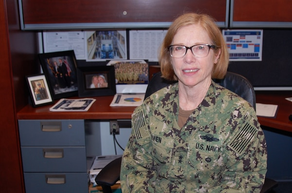 Navy Rear Adm. Deborah Haven, commander of the DLA Joint Reserve Force and the agency's Audit Task Force, will retire Sept. 6 with 32 years of service. Photo by Beth Reece