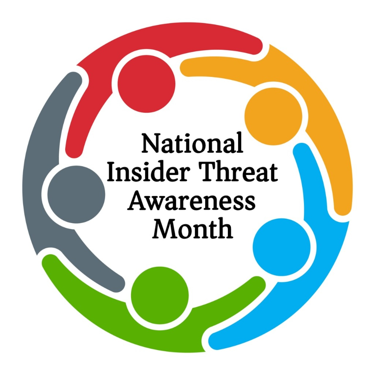 "A graphic featuring a man with his head resting in his hands bears the words ""Most Insider threats display concerning behaviors prior to engaging in negative events.  If you see something, say something!"""