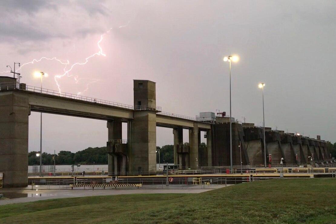 Lightning at Newburgh Locks and Dam