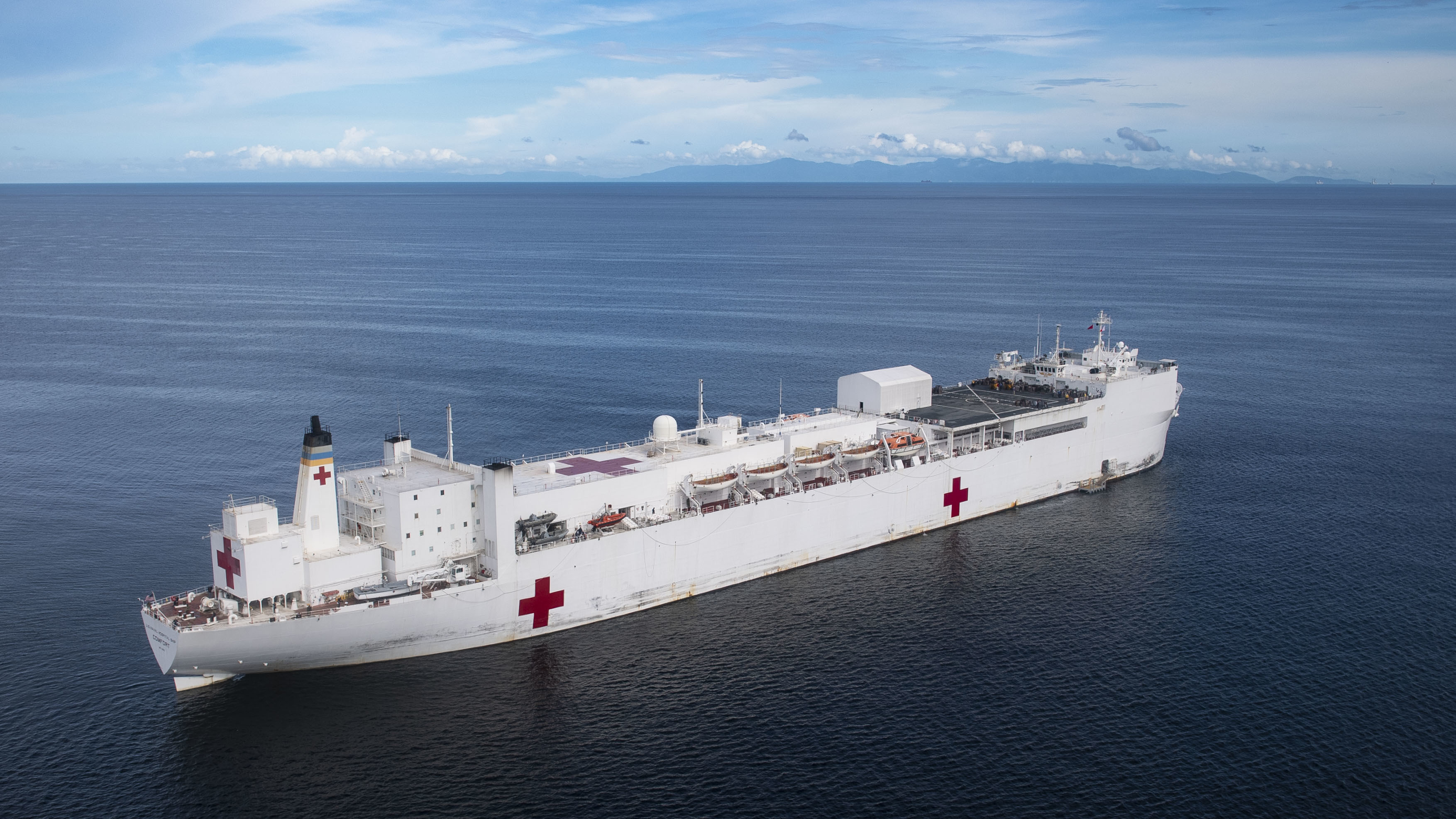 USNS Comfort at Sea.