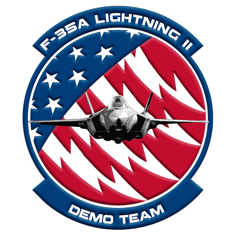 The F-35A Lightning II Demonstration Team is scheduled to perform at several air shows across the United States in 2019. (U.S. Air Force graphic by F-35 Demo Team PA)