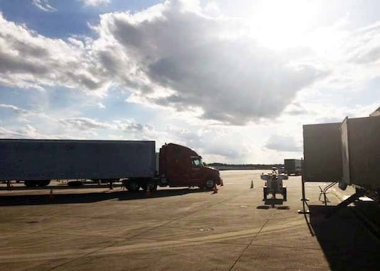 DLA Distribution Expeditionary on the ground at Fort Bragg in support of FEMA