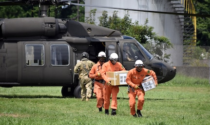 U.S. Army Garrison Japan Works with Japanese Emergency Services during Disaster Drill