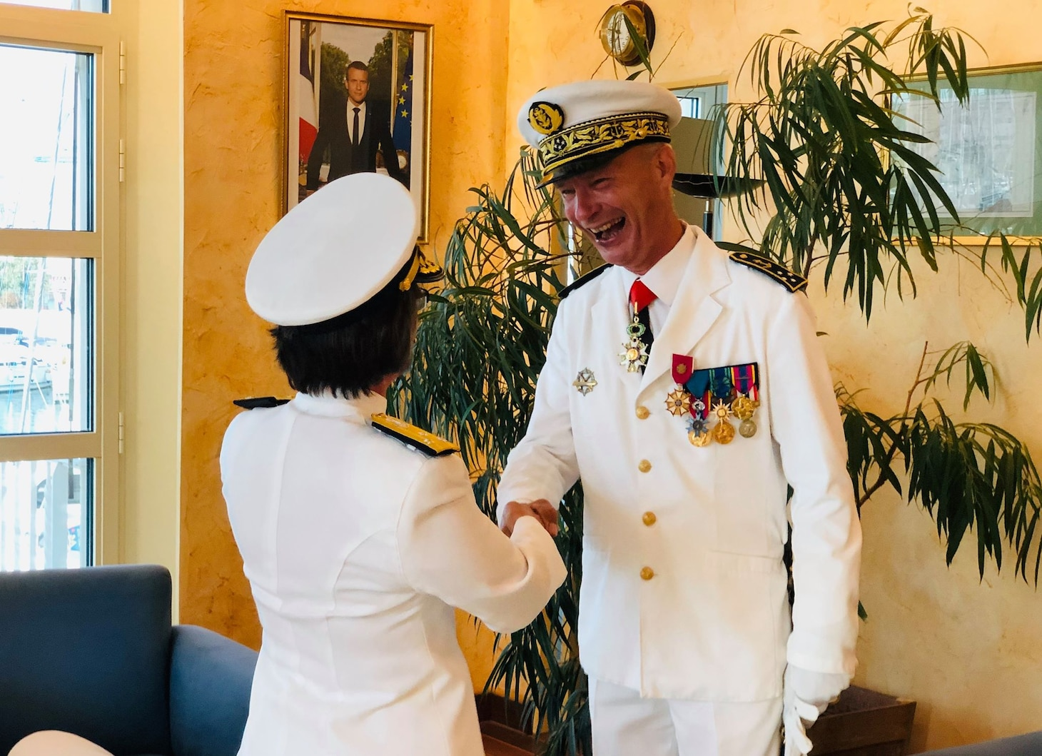 C6F Presents Legion of Merit to French Vice Adm. du Ché