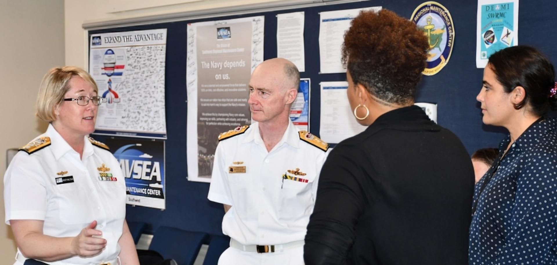 Royal Australian Navy Admiral Visits  Southwest Regional Maintenance Center