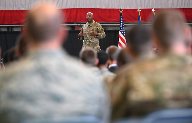 CMSAF emphasizes human connections at Hanscom all call
