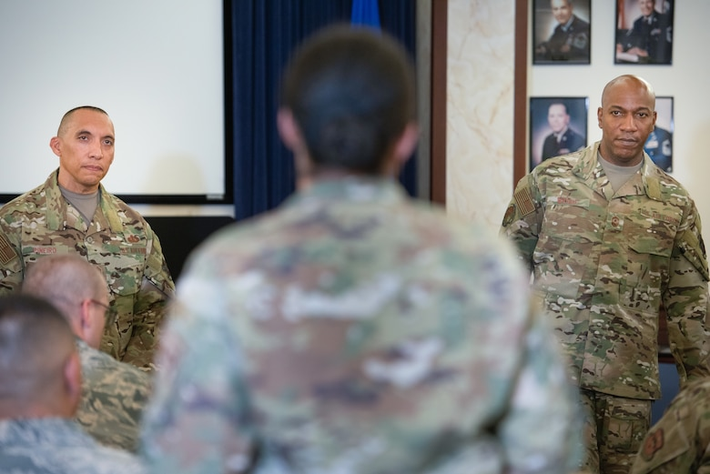 Air Force leaders address first sergeants