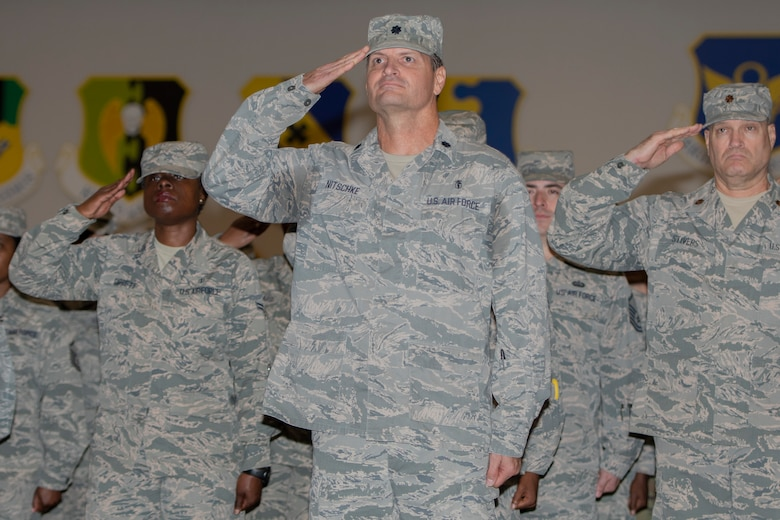 """U.S. Air Force Col. Dennis Britten took command of the 307th Medical Squadron during a ceremony at Barksdale Air Force Base, Louisiana, September 7, 2019. Britten has been assigned to the 307th MDS and it's predecessor, the 917th MDS, since he commissioned in 2019. The 307th Medical Squadron provides the medical care the Reserve Citizen Airmen of the 307th Bomb Wing require to be """"fit to fight."""""""