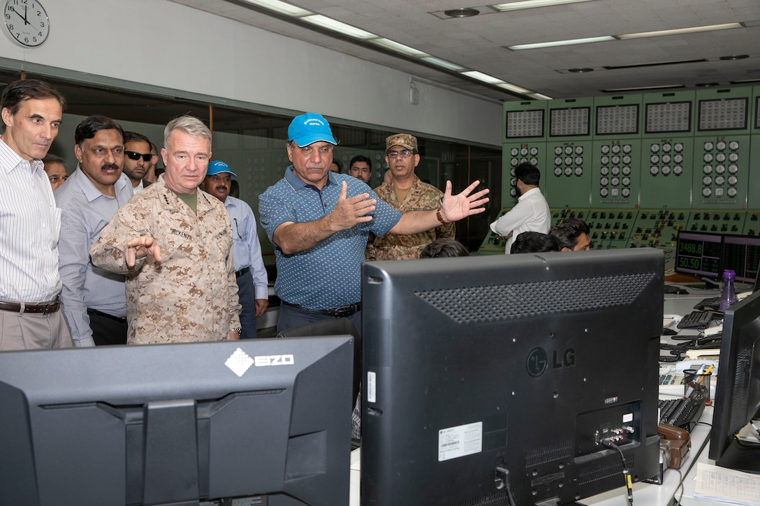 U.S. Marine Corps Gen. Kenneth F. McKenzie, center left, the commander of U.S. Central Command, visits the Tarbela Dam hydroelectric plant in the Khyber Pakhtunkwa Province, Pakistan, Sept. 7, 2019. (U.S. Marine Corps photo by Sgt. Roderick Jacquote)