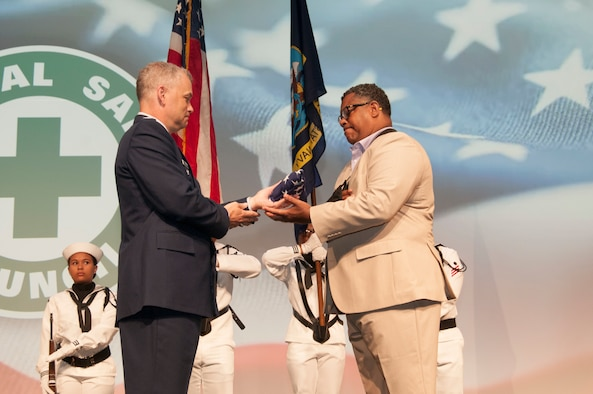 Troy Armstead, a 9/11 survivor and safety professional with over 30 years in the career field, was thanked for his heroic actions during the terrorist attacks on the Pentagon during the opening ceremonies of the National Safety Council's 2019 Congress & Expo, Sept. 9, 2019.