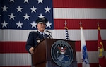 "Gen. John W. ""Jay"" Raymond, U.S. Space Command commander, recognized the establishment of the nation's 11th combatant command in a joint ceremony at Peterson Air Force Base, Sept. 9 2019. The USSPACECOM mission is to deter aggression and conflict, defend U.S. and allied freedom of action, deliver space combat power for the Joint/Combined force, and develop joint warfighters to advance U.S. and allied interests in, from, and through the space domain. (U.S. Air Force photo by Staff Sgt. Dennis Hoffman)"
