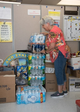 After Hurricane Dorian devastated the Bahamas, employees from Naval Surface Warfare Center Panama City Division (NSWC PCD) rallied together to collect supplies to aid in relief efforts by those affected by the Category 5 hurricane.