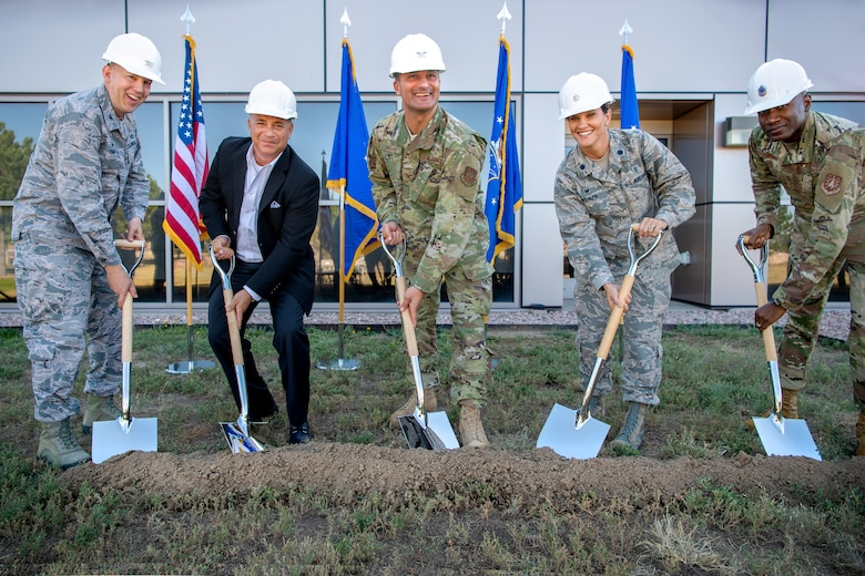 Photo of groundbreaking for 21st Medical Squadron Schriever Clinic alteration project.