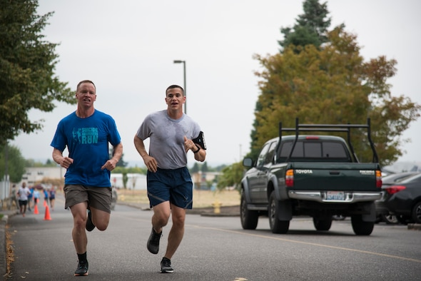 142nd Fighter Wing Guardsmen participate in Suicide Awareness 5K