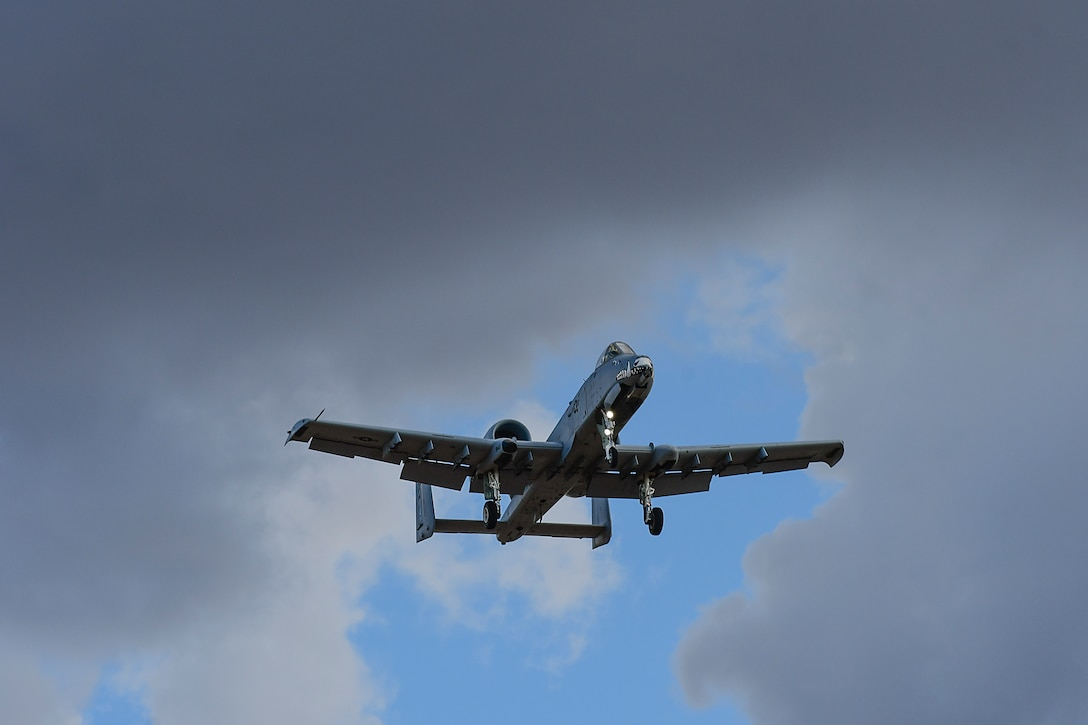 a photo of an A-10 flying