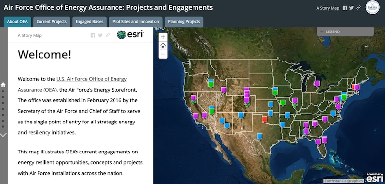 Air Force Energy StoryMap