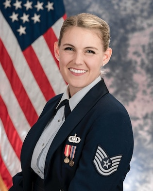 Official photo of Technical Sgt. Nadia Sosnoski, vocalist with SuperSonic and The U.S. Air Force Singing Sergeants, which is one of six ensembles in The United States Air Force Band, Joint Base Anacostia-Bolling, Washington, D.C.