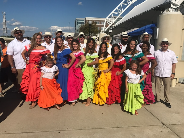 Music and dance ensemble Rondalla Puerto Rico is pictured at the 2018 Hispanic Heritage Festival in Dayton, Ohio. Miguel Maldonado, group member and Air Force Research Laboratory Aerospace Systems Directorate Diversity Council chair, is leading the directorate's Hispanic Heritage Month activities, taking place Sept. 15-Oct. 15, 2019. (Photo courtesy of Maria Maldonado)