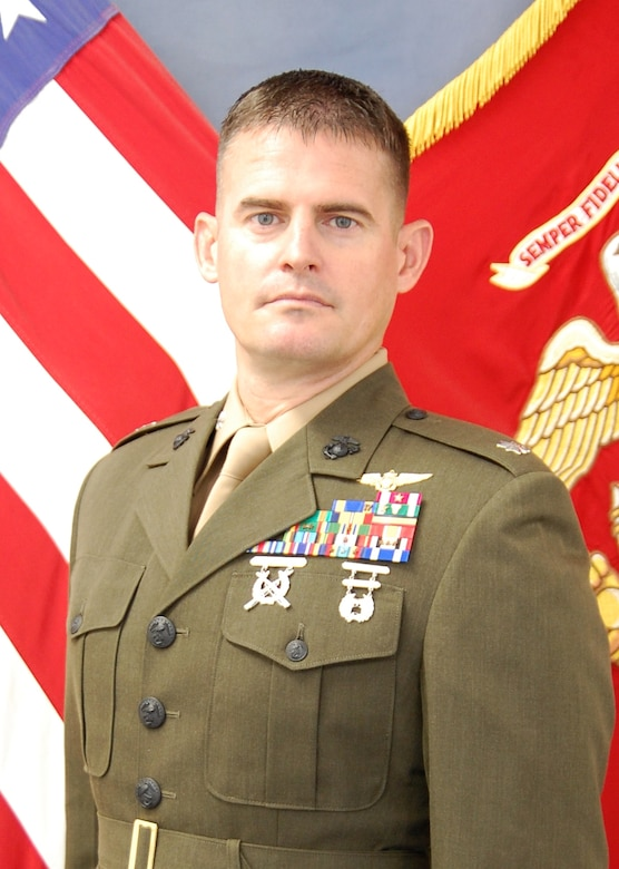 Lieutenant Colonel James I. Strickler, Executive Officer, Marine Aviation Training Support Group 21, NAS Pensacola, Pensacola, FL