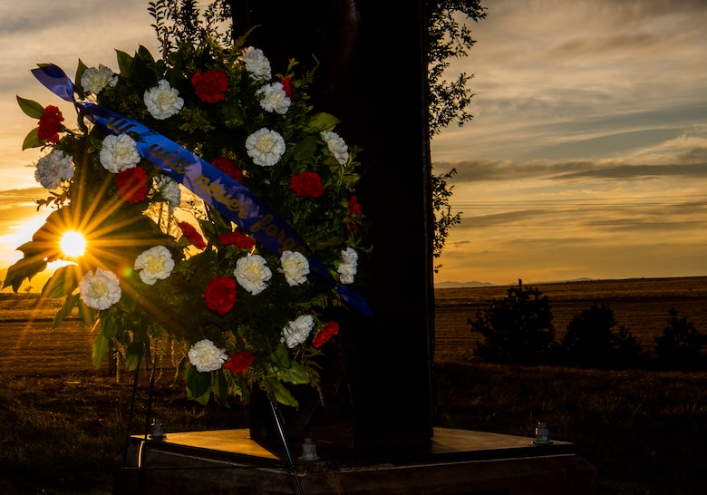 Schriever Air Force Base, Colorado, remembers the attacks on Sept. 11, 2001. In remembrance of those affected by the attacks, Schriever AFB has a remnant of the World Trade Center towers, so we may never forget what happened that day. (U.S. Air Force photo by Airman 1st Class Jonathan Whitely)