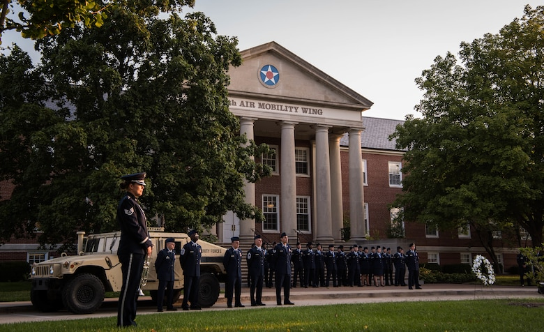 Airmen gather for 9/11 memorial ceremony