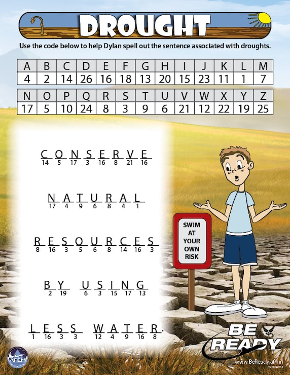 Activity Sheet Ages 8-12 on Drought