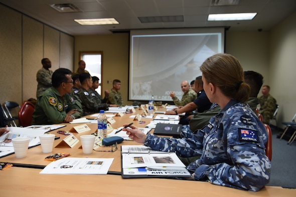Partner nations from across the Pacific area of command attend the 2019 Logistics and Safety Symposium held at Osan Air Base, Republic of Korea, Sept. 4, 2019.