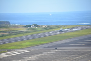 A B-2 Spirit lands at Portuguese Air Base #4, Lajes Field, Azores, Portugal. Our long standing NATO ally, provided hot-pit refueling to the B-2 aircraft and showcased the interoperability and readiness capability between the two allied nations.