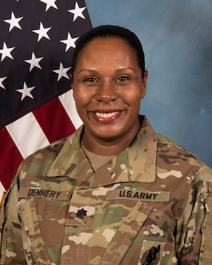 Head and shoulders photo of LTC Fabienne Dennery, Harrisburg Recruiting Battalion Commander