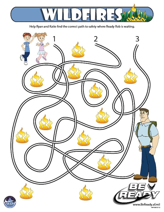Activity Sheet Ages 4-7 on Wildfires