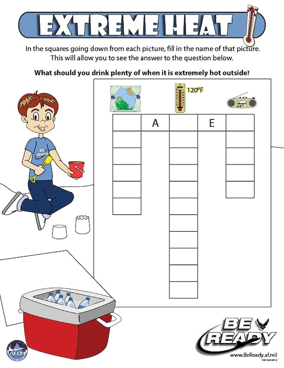 Activity Sheet on Extreme Heat ages 4-7