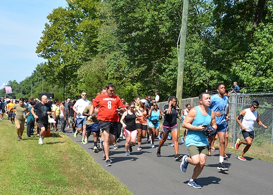 Runners take off at start line