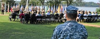 IMAGE: DAHLGREN. Va. (Sept. 11, 2019) – Navy chief petty officer selectees lead the observance ceremony to honor those killed in the 9/11 terrorist attacks. Naval Support Activity South Potomac (NSASP) leadership, Sailors, and first responders were among the government, contractor, and military personnel from commands located on NSASP who attended the event. This year marks the 18th anniversary of the attacks, which took the lives of 2,977 people in New York City; Washington, D.C.; and a field outside of Shanksville, Pennsylvania, as well as the lives of the innocent passengers and crew members on the hijacked planes.