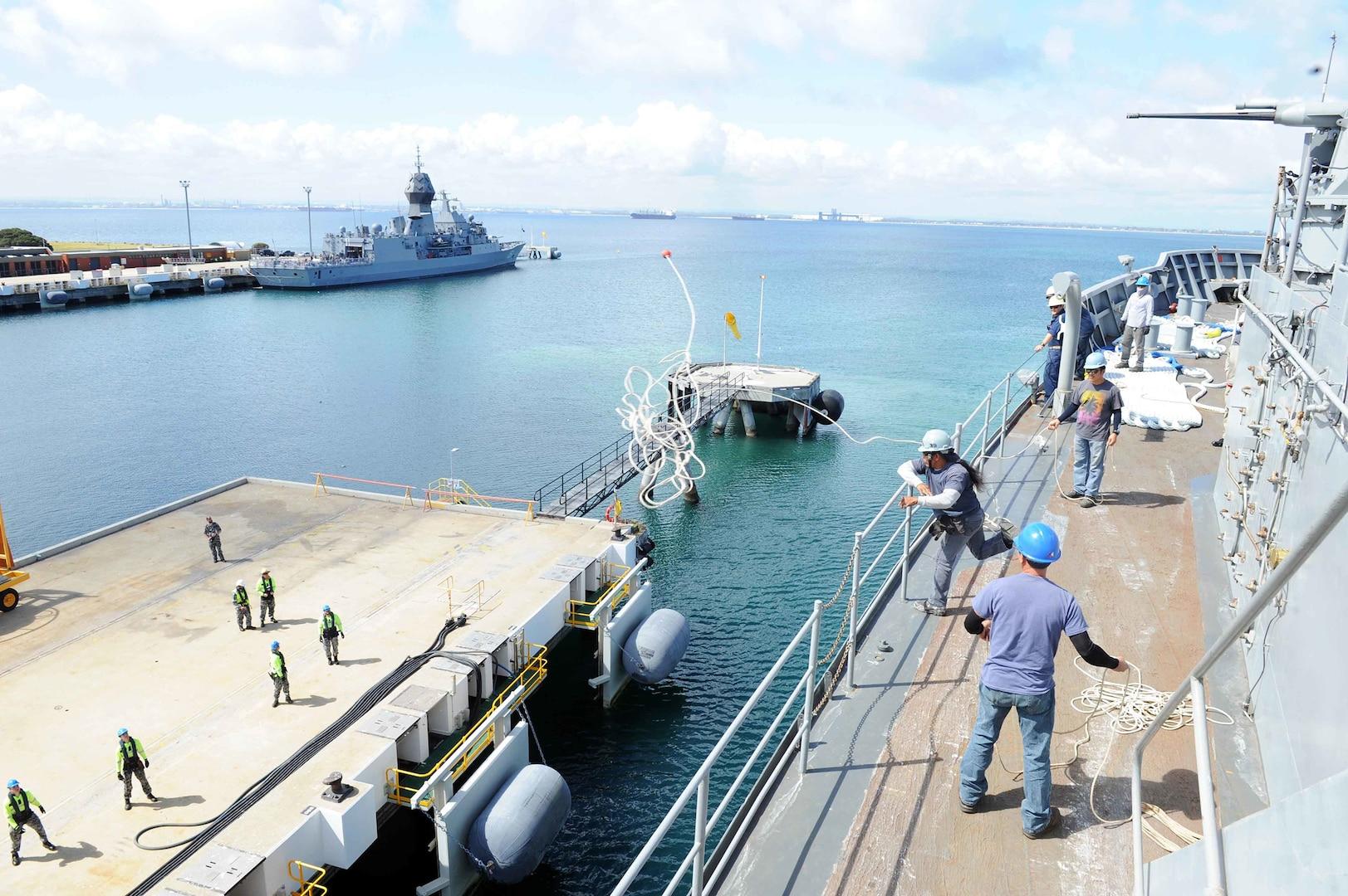 USS Emory S. Land Arrives in Fremantle, Australia