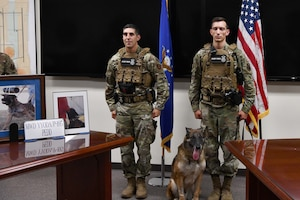 97th SFS retires military working dog.
