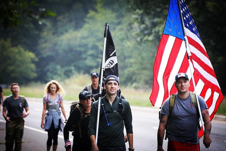 Columbus Air Force Base Airmen march 100 miles to 9/11 Memorial