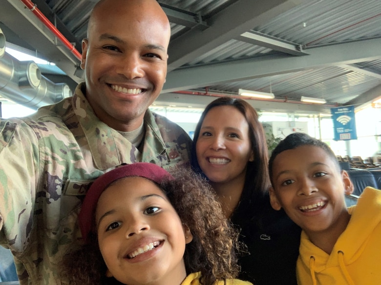 Tech. Sgt. Graeme Clouden and his family. (Courtesy Image)