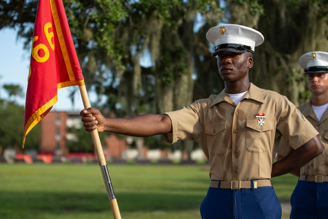 """A native of Port St. Luci, Florida, graduated from Marine Corps recruit training as a platoon honor graduate of Platoon 3066, Company L, 3rd Recruit Training Battalion, Sept. 13, 2019. Pfc. Roel R. Malcolm earned this distinction over 13 weeks of training by outperforming 88 other recruits during a series of training events designed to test recruits' basic Marine Corps skills. These training events covered customs and courtesies, drill and ceremonies, marksmanship, physical fitness, military history, and a variety of other subjects. """"I liked how drill made the platoon seem as one. As the Senior Drill Instructor would say """"One Heartbeat, One Blood, One Brotherhood"""" everything moving in unison with precision,"""" said Malcolm. After enjoying the 10 days of leave allotted to graduates of recruit training, Malcolm will continue to build foundational Marine Corps skills at the School of Infantry, Camp Geiger, North Carolina."""