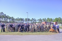 Law Enforcement, Army, Navy, Air Force Participate in Army Reserve K9 Casualty Training