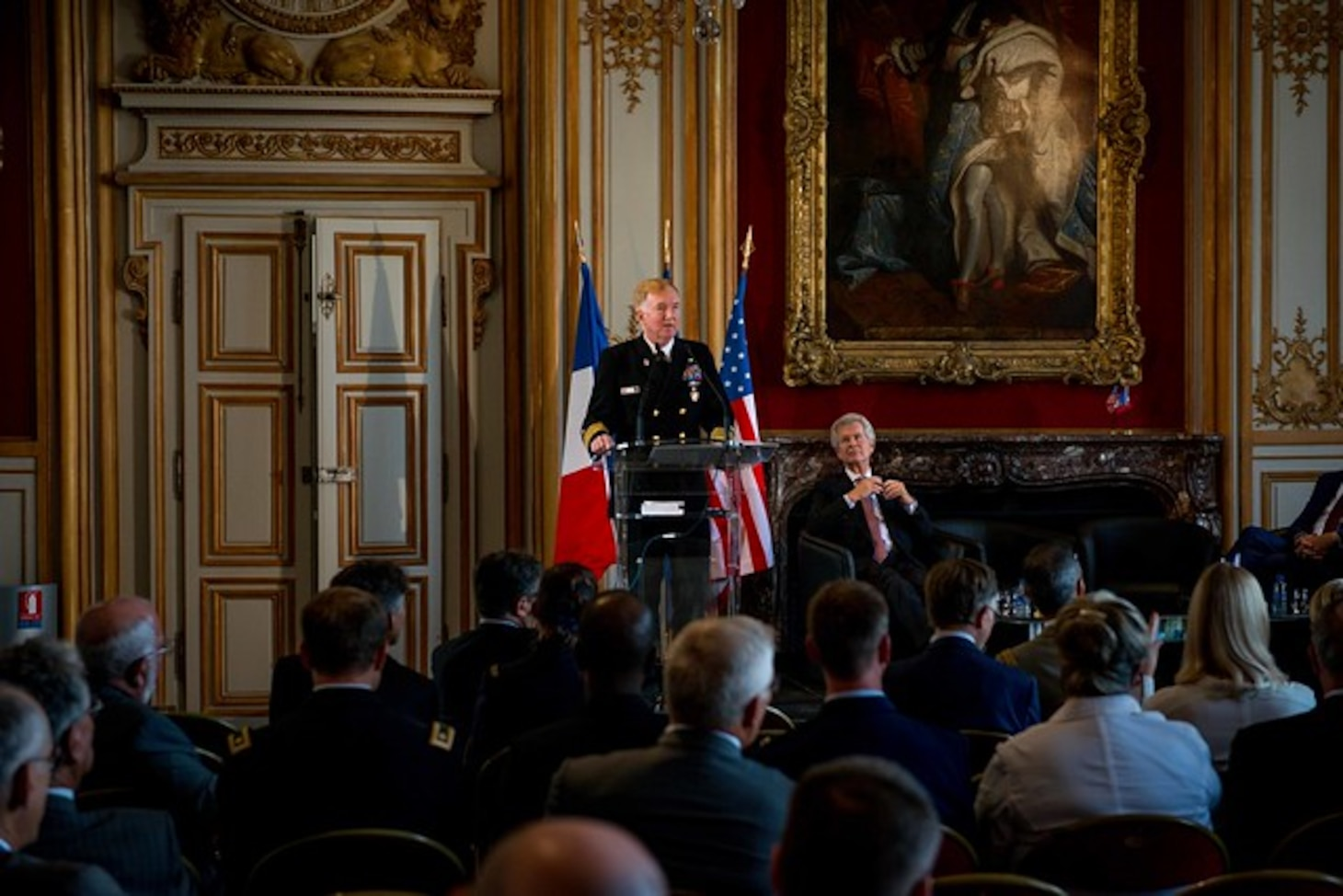 Europe's Top Admiral Highlights French-American Alliance in Paris