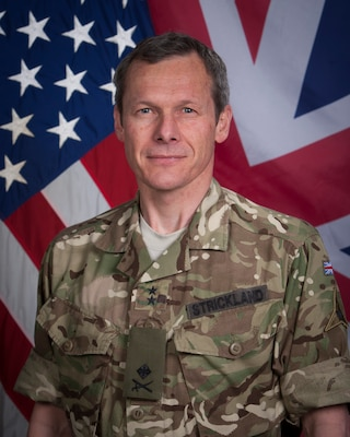 Gerald (known as Gez) Strickland is currently serving as the Deputy Commander-Stability of Combined Joint Task Force-Operation Inherent Resolve (CJTF-OIR). He is also the Deputy Commanding General (Support) of the III Armored Corps out of Fort Hood, Texas, a post he has held since May 2019.