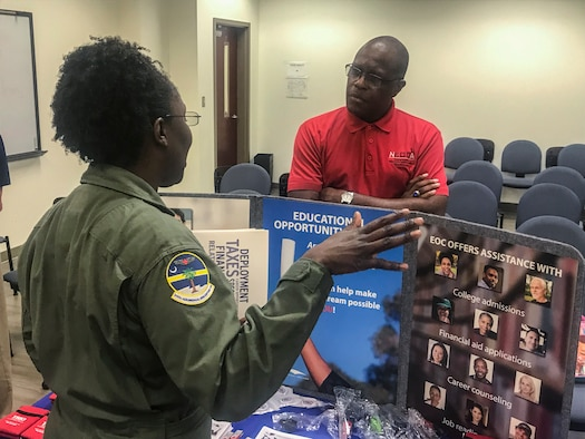 Are you looking for a civilian job, education opportunities, or ways to access military resources, like confidental non-medical counseling, as a service member? The Rising Six Association of JB Charleston, South Carolina, hosted a networking event Sep. 14, 2019, on base, for Airmen of all backgrounds. Through a variety of community based organizations, such as the American Red Cross to Military One Source, the Rising Six Organization facilitated this networking event to help Airmen to reach their educational goals, mental health resilience, employment opportunities and much more.